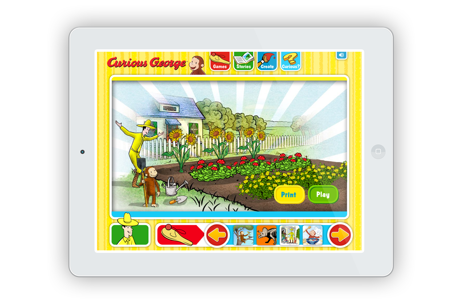 From Creates Digital Games for Curious George
